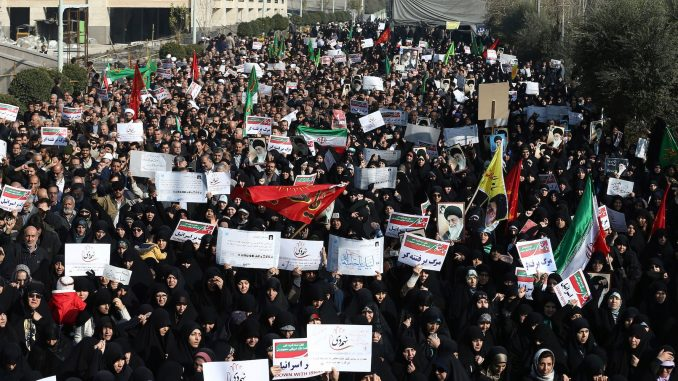 Iran uprising - orchestrated by Israel and USA