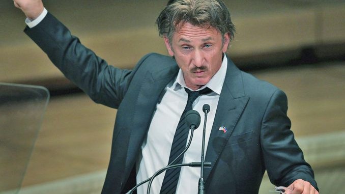 Sean Penn says Donald Trump is humanity's greatest threat