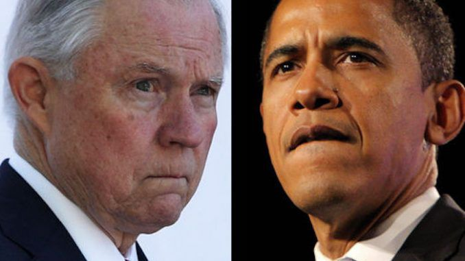 Jeff Session's Department of Justice has launched a task force to investigate Obama's role in trafficking and money-laundering operations.