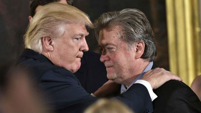 Trump claims Steve Bannon cried and begged for his job back when he was fired