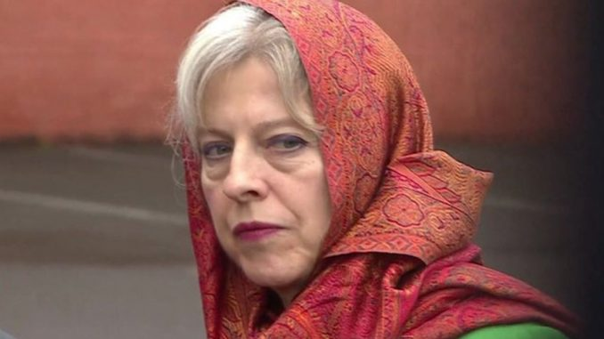 "The British government has begun promoting Islam by distributing ""free scarves"" to women who express an interest in wearing the Islamic Hijab."