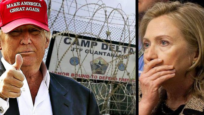 President Trump has announced plans to expand Guantanamo Bay in order to house 'Deep State traitors' such as Clinton, Podesta, and Obama.