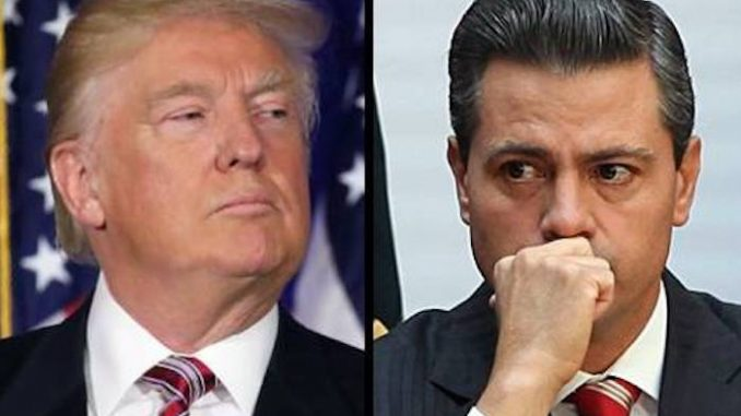 The Mexican President broke down in tears after Trump doubled down on his promise to build a border wall