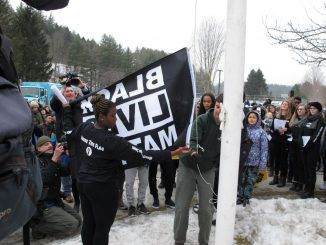 Race-baiting domestic terrorist organization Black Lives Matter have been allowed to hijack a high school in Vermont, by raising their flag and entering the classrooms to indoctrinate the students.