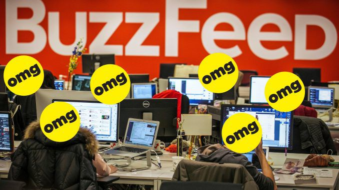 Buzzfeed is facing bankruptcy as victims sue them for printing the discredited Russia Dossier and former allies turn their back on the failing pile of garbage.