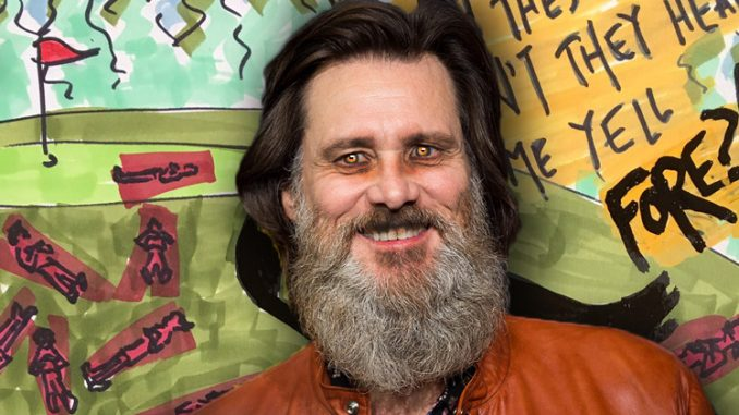 jim carrey trump has blood of 17 dead people on his hands