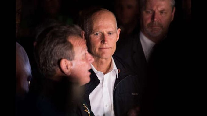Florida Gov. Rick Scott is moving to suspend 'incompetent' Sheriff Israel for 'dereliction of duty' after a petition by lawmakers.