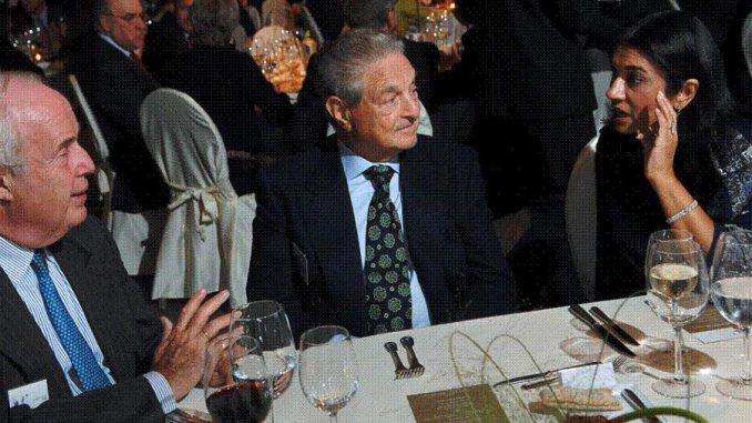Globalist activists on billionaire George Soros' payroll have been exposed bragging about toppling democratically-elected governments at a private lunch.