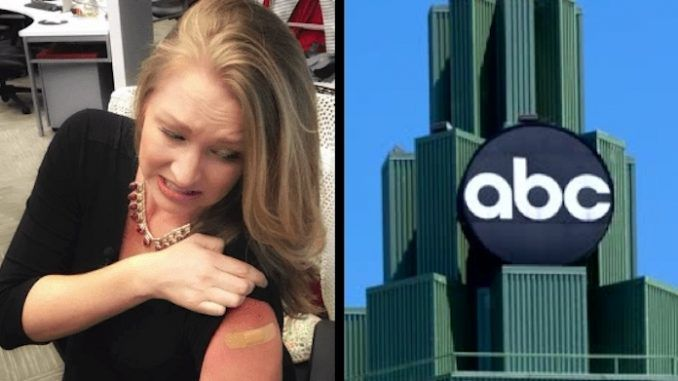 ABC News reporter Ashley Glass uploaded an image of her swollen arm to Facebook and said the flu shot had left her temporarily disabled.