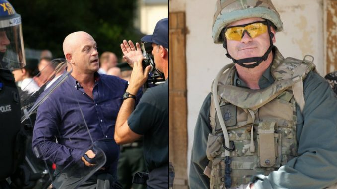 Actor Ross Kemp was forced to wear full military gear whilst filming multicultural documentary in Birmingham