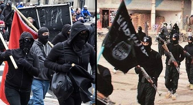 """Antifa leaders are in direct communication with European ISIS terrorists and have formed an """"anti-American alliance"""", an FBI report warns."""
