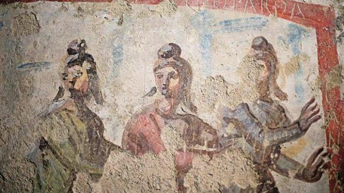 Newly restored Italian frescoes unveiled by the Vatican have revealed that the early Christian Church had female priests.