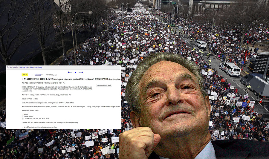 March for our Lives protestors paid 300 dollars by Soros organizers