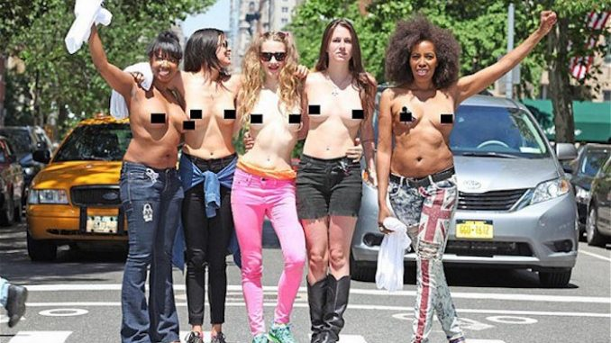 US federal court rules women can flash boobs in public