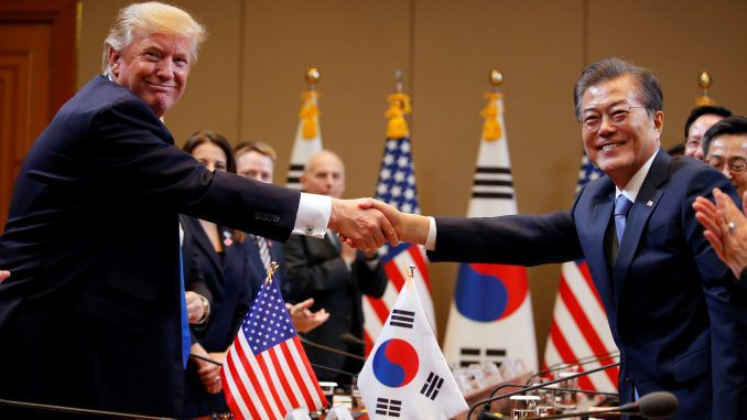 President Trump negotiates peace deal between North and South Korea