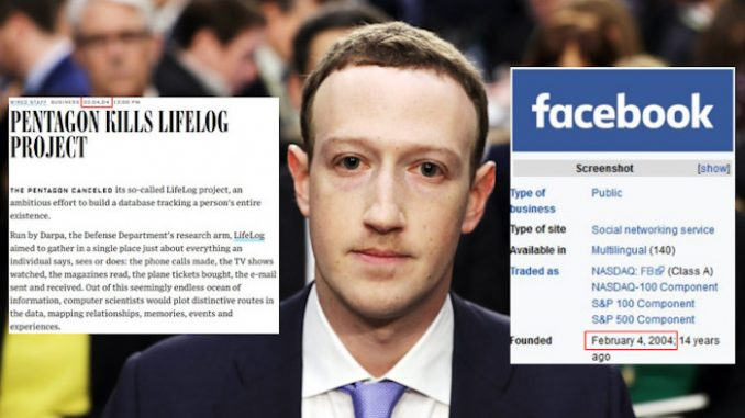 The Pentagon stopped online mass surveillance program same month Facebook was founded