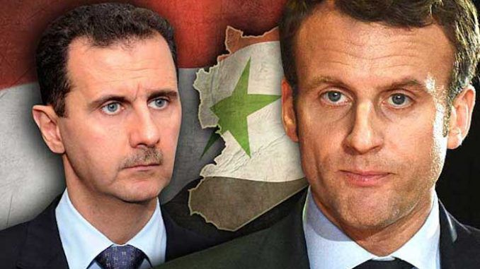 Globalist French President vows to build new Syria