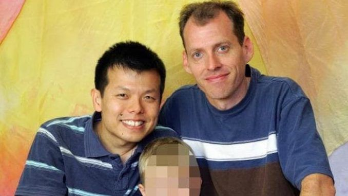 A gay couple who ran an international pedophile ring involving an adopted son they illegally bought from Russia are now serving decades behind bars in the United States.