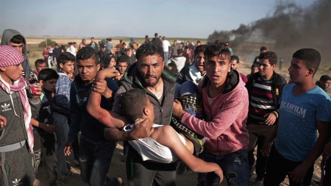 United Nations report confirms 40 Palestinians were killed and thousands more injured because of Israeli aggression at Gaza border