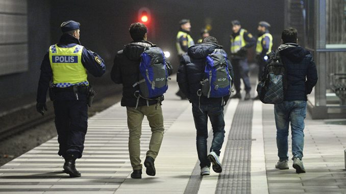 Swedish students have been arrested for distributing facts about immigration consisting of information sourced from reputable organizations.