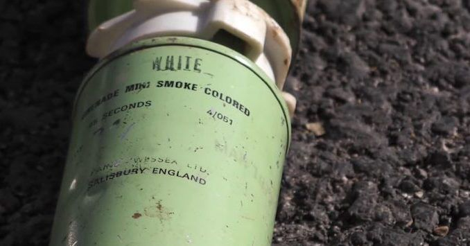Chlorine containers from Germany and smoke bombs from England discovered in Syria