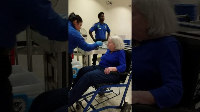 96 year old granny groped and molested by TSA agents