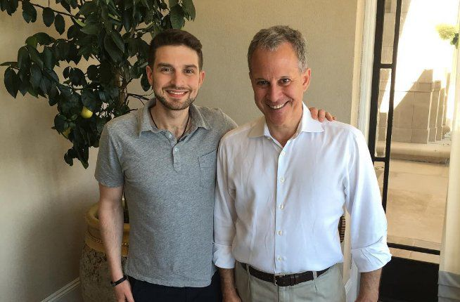 Alex Soros with Eric Schneiderman via Soros' instagram