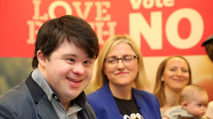 A man with Down Syndrome, who proclaims that he loves his life, features in a new advertisement urging his fellow Irish citizens to vote to retain the 8th Amendment which protects babies like him from being aborted.