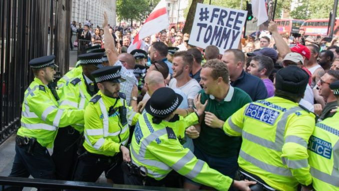 Thousands of Brits storm 10 Downing Street demanding the release of political prisoner Tommy Robinson