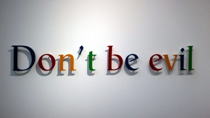 Google removes don't be evil rule from handbook