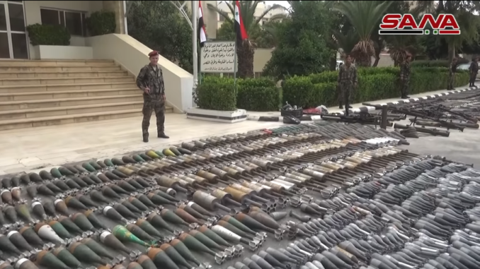 Israeli weapons handed over by ISIS militants in Syria
