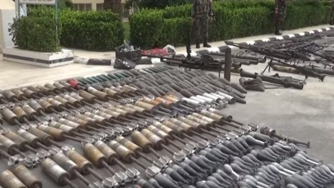 Cache of Israeli weapons recovered from ISIS terrorists in Syria