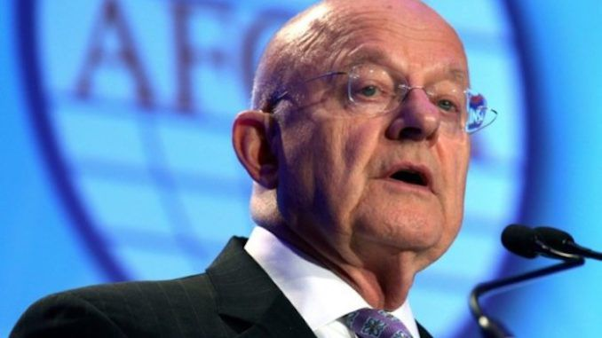 James Clapper says planting FBI moles within the Trump campaign is standard practise