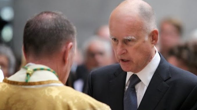 Governor Jerry Brown clears path to ban Christianity from California