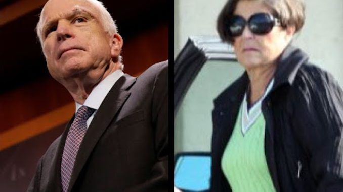 "John McCain was ""appalled"" by his loyal wife's appearance after a car crash, and promptly divorced her in favor of a rodeo beauty queen."