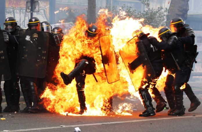French Police Use Tear Gas Against Antifa Terrorists In Paris