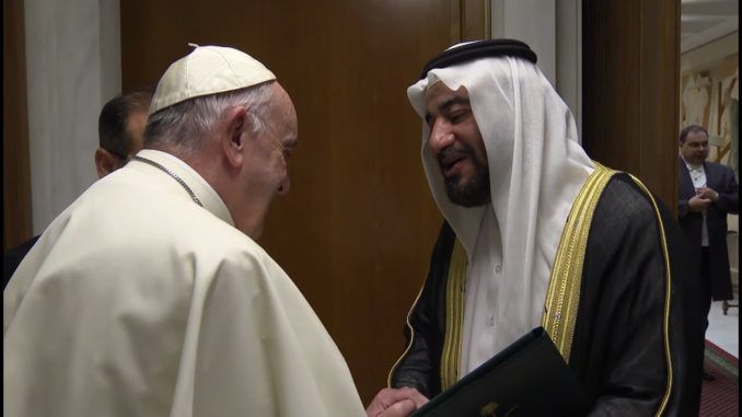 Pope Francis agreed to create Islam-friendly churches in Saudi Arabia