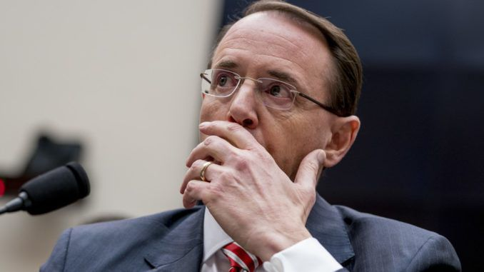 Trump prepares to fire traitor Rod Rosenstein