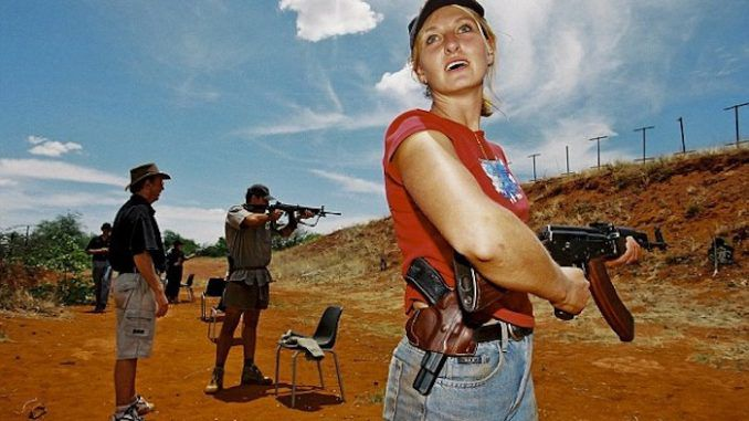 White South African farmers are taking up arms to defend themselves and their property after the government voted to amend the country's Constitution to allow for the confiscation of white-owned land without compensation.