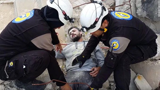 President Trump defunds White Helmets for conducting false flag attacks in Syria