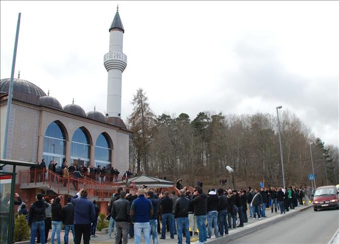 Muslim worshippers today gathered for the Friday prayer, or Jummah, at a mosque in Stockholm which saw the first-ever call to prayer to be recited in Sweden.
