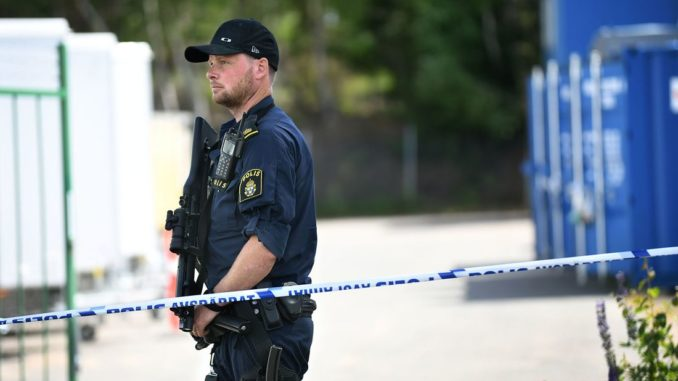 Swedish police find container full of weapons, bombs linked to far-left group Antifa