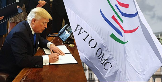 Trump announces withdrawal from World Trade Organization