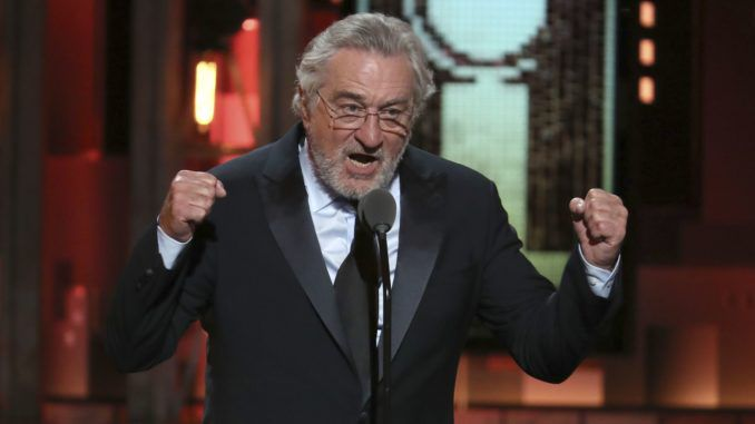 Robert De Niro says 'fuck Trump' at Tony Awards