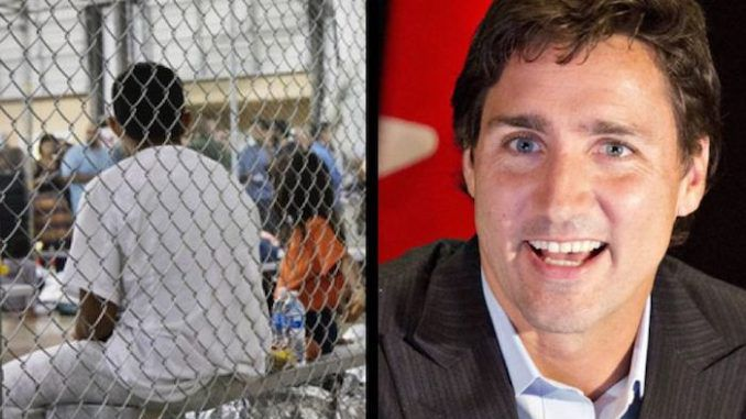 Justin Trudeau criticized President Trump over the child detention scandal, but it has emerged Canada have the same policies.