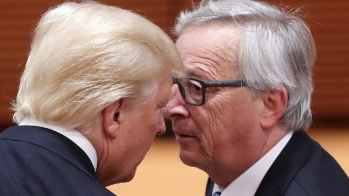 Trump just told EU President Juncker that he's a brutal killer to his face