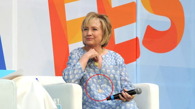 Hillary Clinton spotted wearing life alert panic button in public