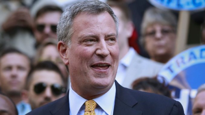 New York City mayor Bill de Blasio has been caught using a state of the art $3 million counter terrorism aircraft on personal vacations.