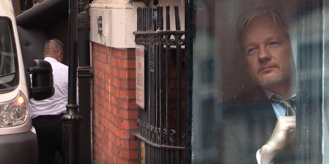 Leaked footage shows Ecuadorian embassy being evacuated, sparking fears that Assange is being secretly extradited to the US