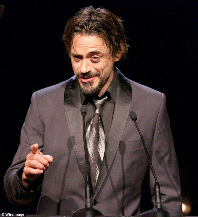 Robert Downey Jr. appeared to have bruising around his left eye while attending a glitzy event back in 2005